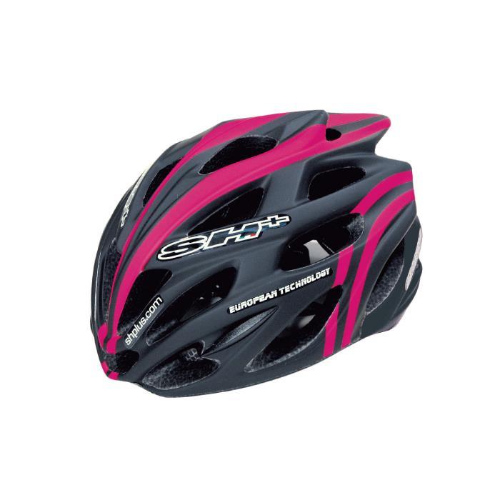SH+(エスエイチプラス) SHABLI S-LINE シャブリエスライン ブラックマット/ピンクフルオ UNIサイズ ヘルメット