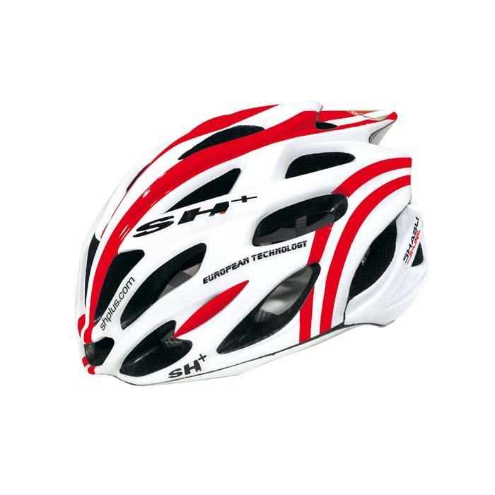 SH+(エスエイチプラス) SHABLI S-LINE シャブリエスライン ホワイトマット/レッド UNIサイズ ヘルメット