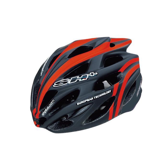 SH+(エスエイチプラス) SHABLI S-LINE シャブリエスライン ブラックマット/オレンジフルオ UNIサイズ ヘルメット