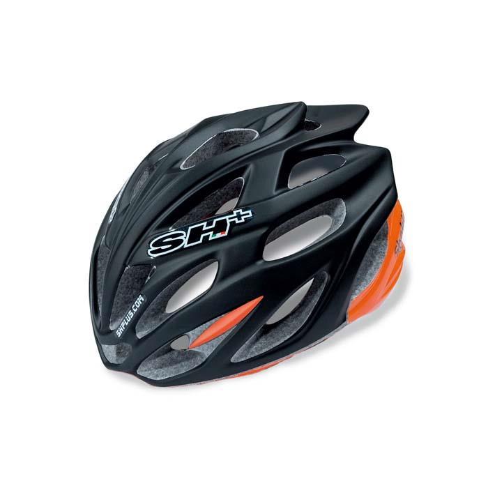 SH+(エスエイチプラス) SHABLI シャブリ ブラックマット/オレンジフルオ UNIサイズ ヘルメット