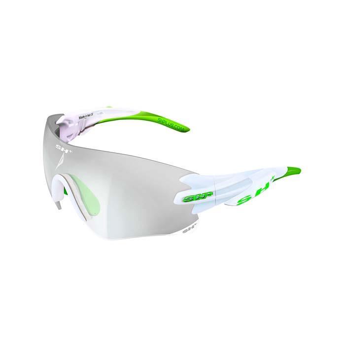 SH+(エスエイチプラス)RG5200 REACTIVE FLASH ホワイト/グリーン アイウェア