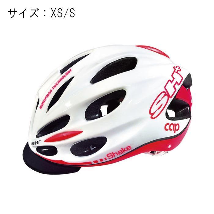 SH+(エスエイチプラス)SHAKE CAP シェイクキャップ ホワイト/ピンク  サイズXS/S ヘルメット