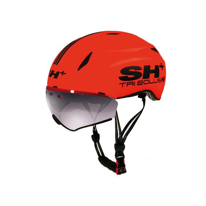 SH+(エスエイチプラス) TRI EOLUS HF トライエオラスHF オレンジフルオ/ブラック UNIサイズ ヘルメット