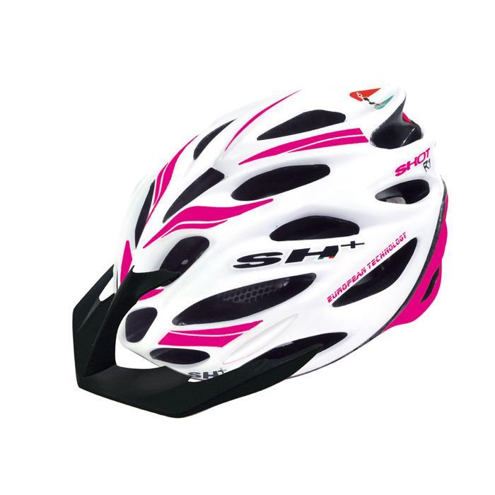 SH+(エスエイチプラス) SHOT R1 ショットR1 ホワイトマット/ピンクフルオ UNIサイズ ヘルメット