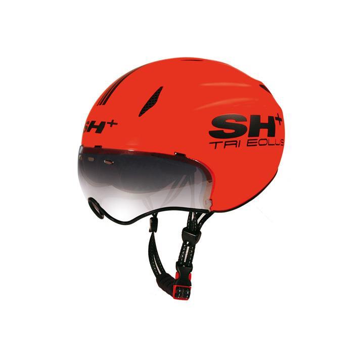 SH+(エスエイチプラス) TRI EOLUS トライエオラス オレンジフルオ/ブラック UNIサイズ ヘルメット