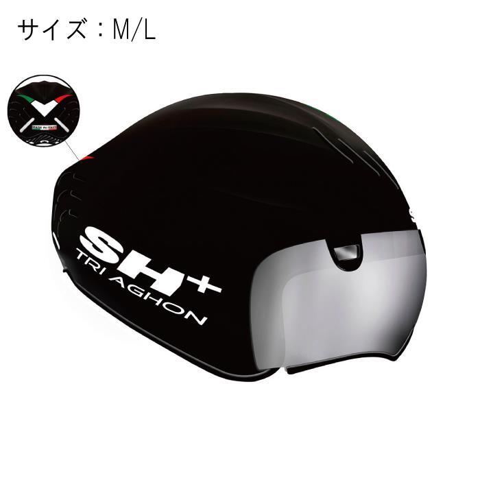 SH+(エスエイチプラス)TRIAGHON トライアゴン ブラック/FLAG サイズM/L ヘルメット