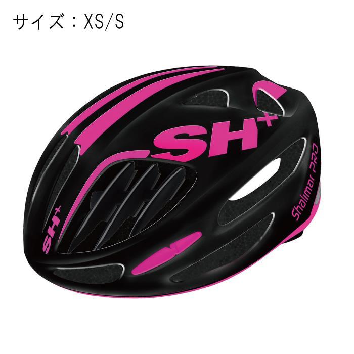 SH+(エスエイチプラス)SHALIMAR シャリマー ブラックマット/ピンクフルオ サイズXS/S ヘルメット