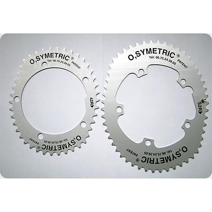 O.SYMETRIC(オーシンメトリック) チェーンリング スタンダード 42X52 PCD130 ブラック 【自転車】【送料無料】【15%OFF】【05P30Nov14】