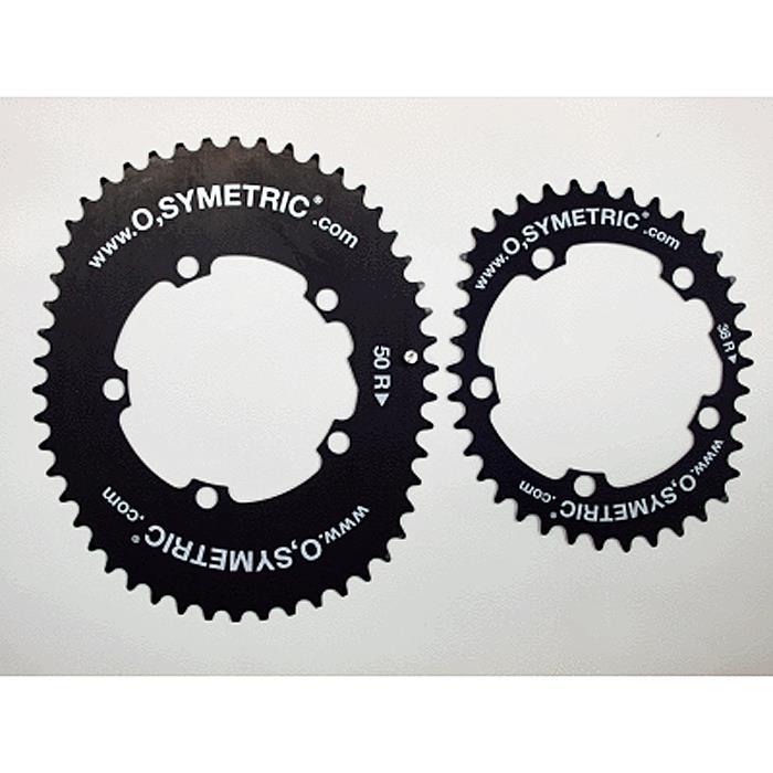 O.SYMETRIC(br) チェーンリング コンパクト 38X52/PCD110 ブラック 【自転車】【ロードバイク】【15%OFF】【05P30Nov14】
