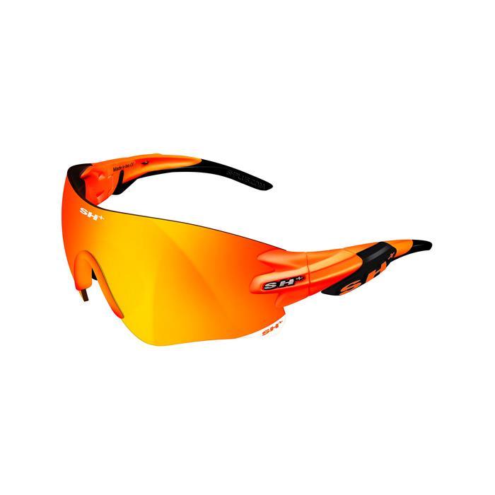 SH+(エスエイチプラス)RG5200 オレンジフルオ/ブラック (レンズカラー レッド) アイウェア