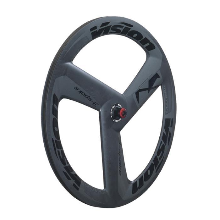 Vision (ヴィジョン) METRON 3-SPOKE グレイ/ブラックチューブラー フロントホイール
