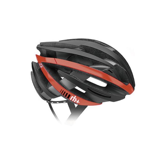 rh+(アールエイチプラス)ZY EHX6055マットブラック/アローシャイニーレッドXS/M ヘルメット