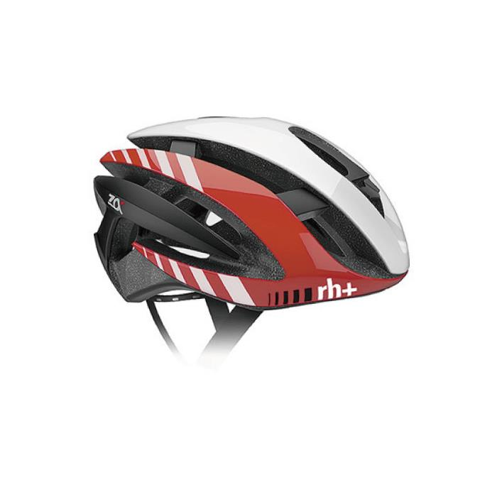 rh+(アールエイチプラス)Z-ALPHA EHX6072シャイニーホワイト/シャイニーレッド/マットブラックXS/M ヘルメット