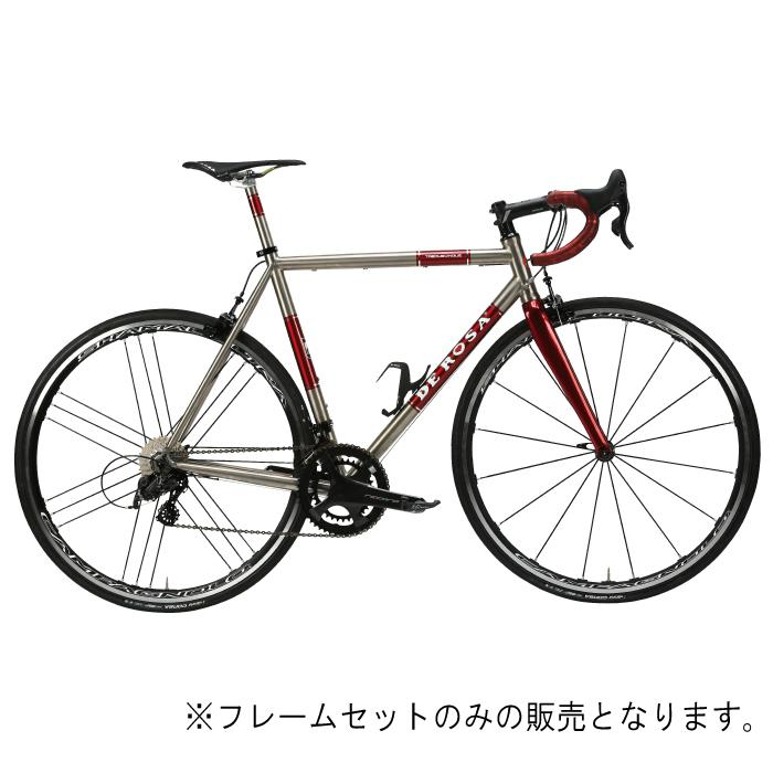 DE ROSA (デローザ)Titanio TREDUECINQUE Ti/Redサイズ49SL (170-175cm)フレームセット