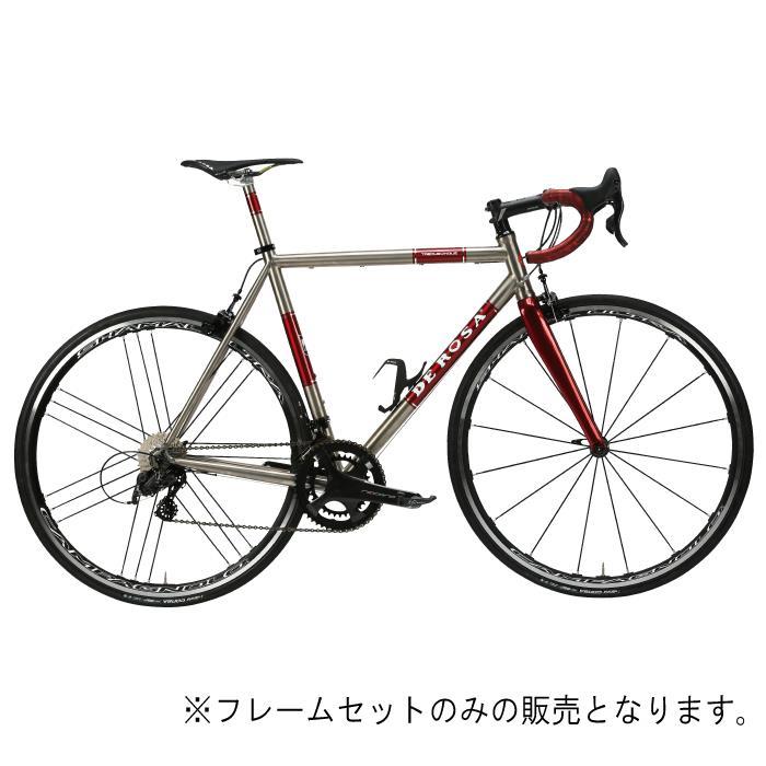 DE ROSA (デローザ)Titanio TREDUECINQUE Ti/Red WMNサイズ45SL (163-168cm)フレームセット