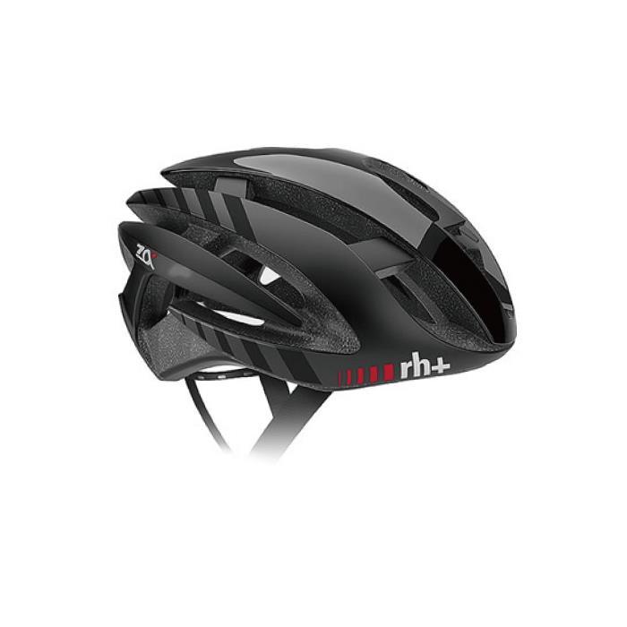 rh+(アールエイチプラス)Z-ALPHA EHX6072シャイニーブラック/マットブラック/マットブラックXS/M ヘルメット