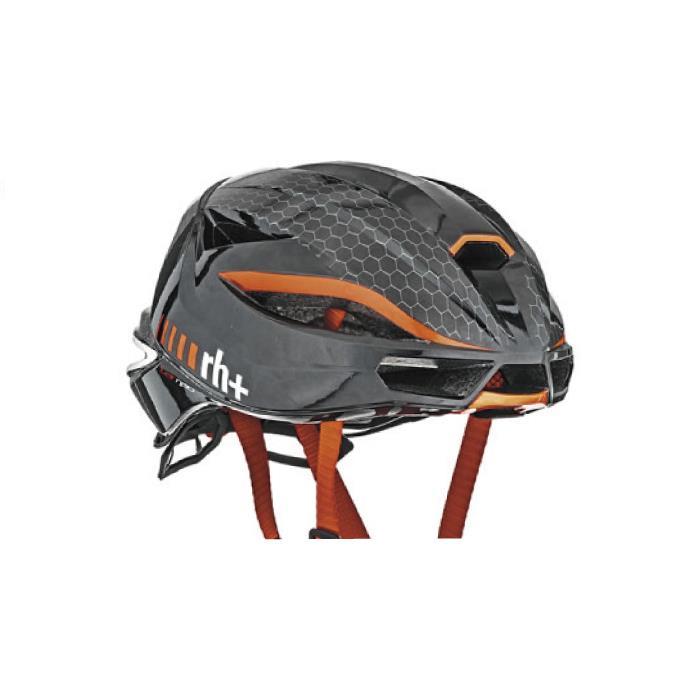 rh+(アールエイチプラス)LAMBO EHX6077シャイニーブラック/シャイニーレッドL/XL ヘルメット