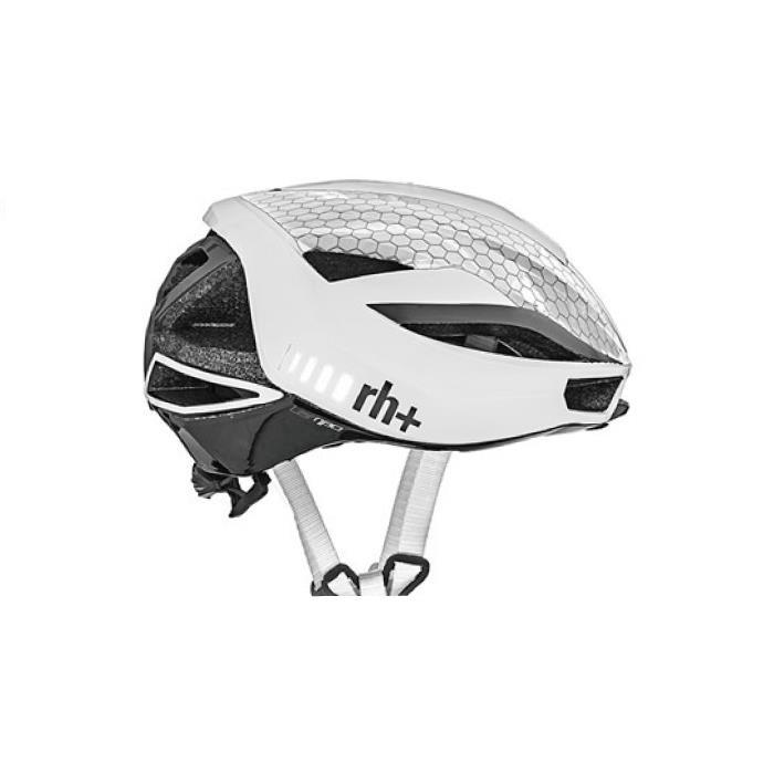 rh+(アールエイチプラス)LAMBO EHX6077シャイニーホワイト/マットダークグレーL/XL ヘルメット