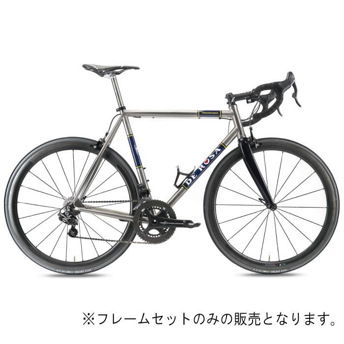 【DE ROSA 2019年モデル】【チタニオ】 DE ROSA (デローザ)Titanio TREDUECINQUE Ti/Blueサイズ49SL (170-175cm)フレームセット