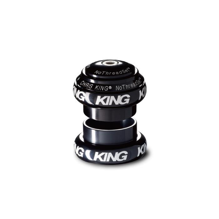 Chris King (クリスキング) NOTHREADSET 1 STD BLACK 白ロゴ ヘッドパーツ