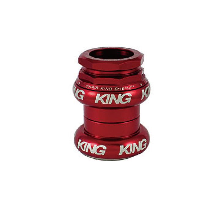Chris King (クリスキング) 2Nut 1 STD RED 白ロゴ ヘッドパーツ