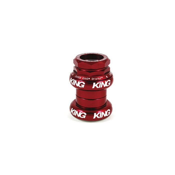 Chris King (クリスキング) GripNut 1 STD RED 白ロゴ ヘッドパーツ