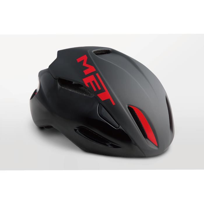 MET(メット) MANTA HES マンタ ブラック/レッド サイズM(54/58cm) ヘルメット