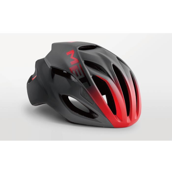MET(メット) RIVALE HES リヴァーレ ブラック/シェードレッド サイズL(59/62cm) ヘルメット