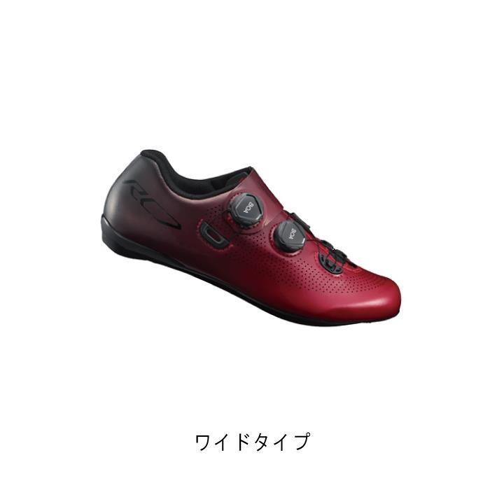 SHIMANO (シマノ) RC7 レッド ワイドタイプ サイズ38(23.8cm) ビンディングシューズ