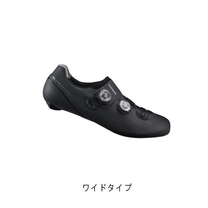 SHIMANO (シマノ) RC9 ブラック ワイドタイプ サイズ43.5(27.5cm) ビンディングシューズ