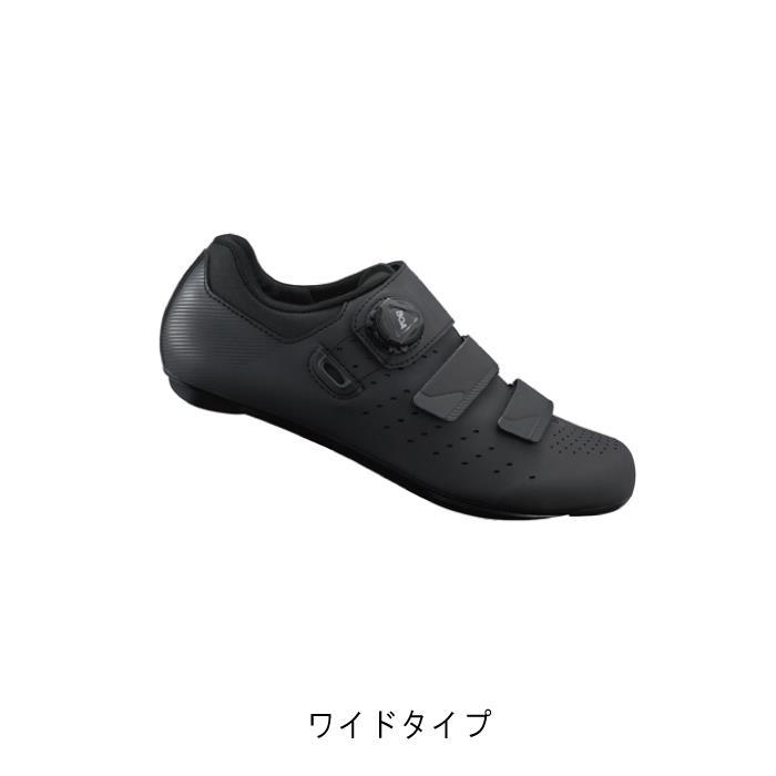 SHIMANO (シマノ) RP4 ブラック ワイドタイプ サイズ39(24.5cm) ビンディングシューズ