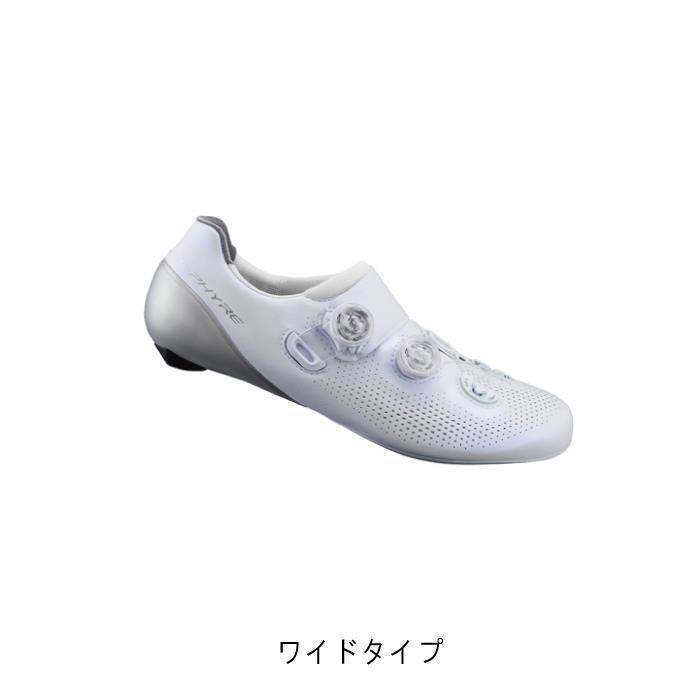 SHIMANO (シマノ) RC9 ホワイト ワイドタイプ サイズ41.5(26.2cm) ビンディングシューズ