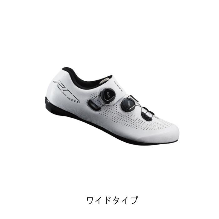 SHIMANO (シマノ) RC7 ホワイト ワイドタイプ サイズ40(25.2cm) ビンディングシューズ