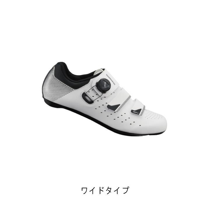 SHIMANO (シマノ) RP4 ホワイト ワイドタイプ サイズ48(30.5cm) ビンディングシューズ