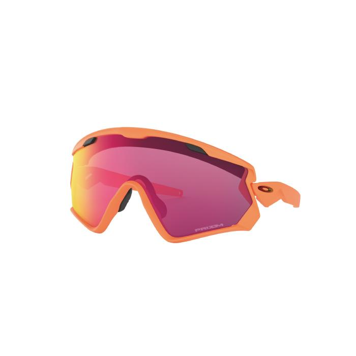 OAKLEY (オークリー) WIND JACKET 2.0 Mat Neon Orange/Prizm Road アイウェア
