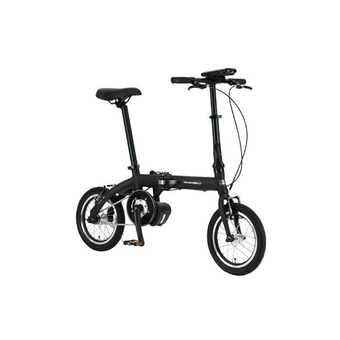 TRANS MOBILLY(トランスモバイリー) ULTRA LIGHT ウルトラライト E-BIKE AL-FDB140E ブラック 14インチ 折畳 電動自転車