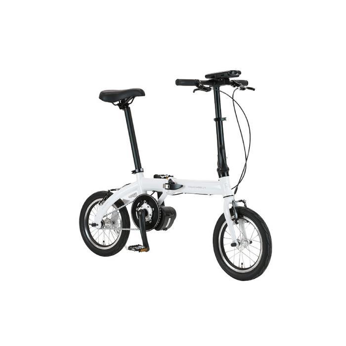 TRANS MOBILLY(トランスモバイリー) ULTRA LIGHT ウルトラライト E-BIKE AL-FDB140E ホワイト 14インチ 折畳 電動自転車