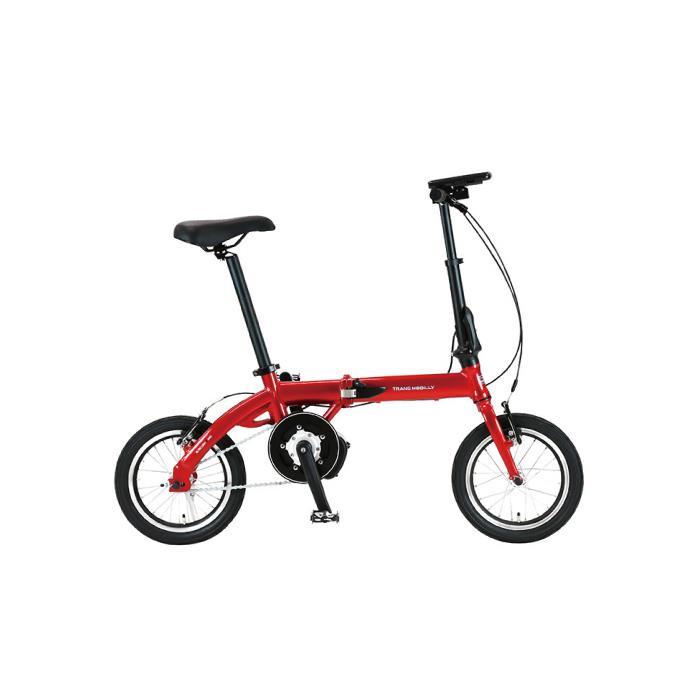 TRANS MOBILLY(トランスモバイリー) ULTRA LIGHT ウルトラライト E-BIKE AL-FDB140E レッド 14インチ 折畳 電動自転車
