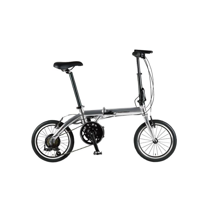 TRANS MOBILLY(トランスモバイリー) ULTRA LIGHT ウルトラライト E-BIKE AL-FDB166E シルバー 16インチ 折畳 電動自転車