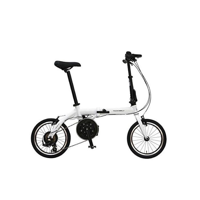 TRANS MOBILLY(トランスモバイリー) ULTRA LIGHT ウルトラライト E-BIKE AL-FDB166E ホワイト 16インチ 折畳 電動自転車