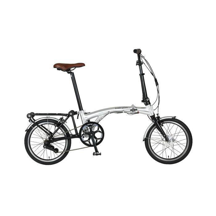 HARRY QUINN(ハリークイーン) PORTABLE E-BIKE AL-FDB160E シルバー 折畳 電動自転車