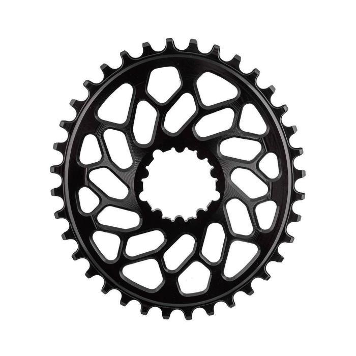 Absolute Black(アブソリュートブラック) Oval SRAM ダイレクトマウント GXP&BB30 CX 38T ブラック チェーンリング