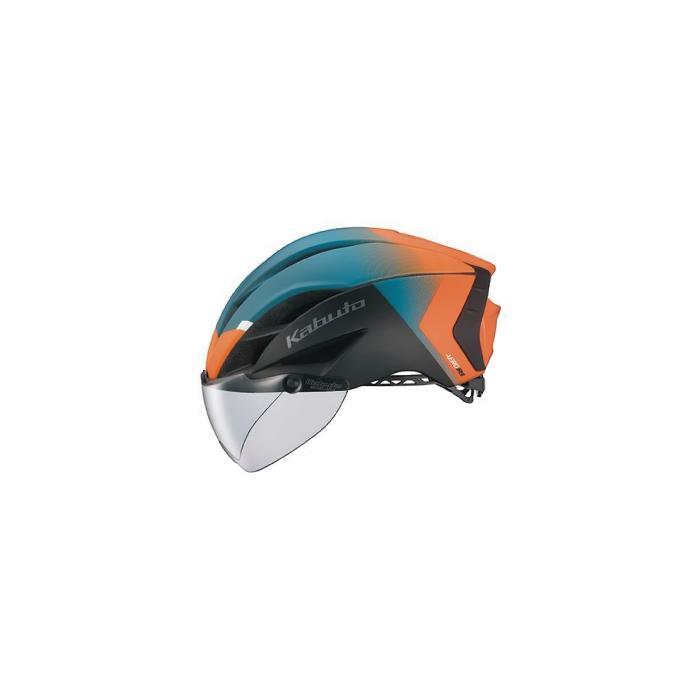 OGK (オージーケー) AERO-R1 G-2 マットオレンジグリーン サイズS/M ヘルメット