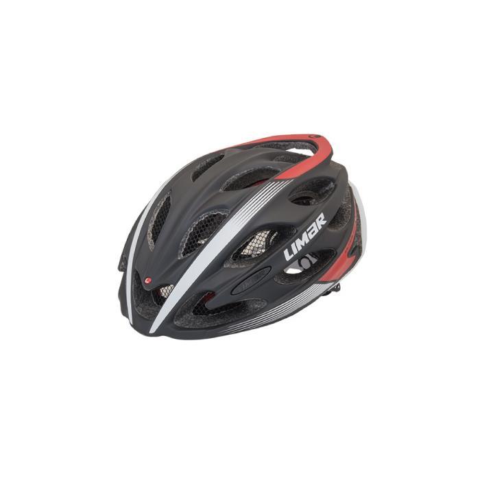 Limar (リマール) ウルトラライト+ マットブラック/レッド サイズM(53-57cm) ヘルメット