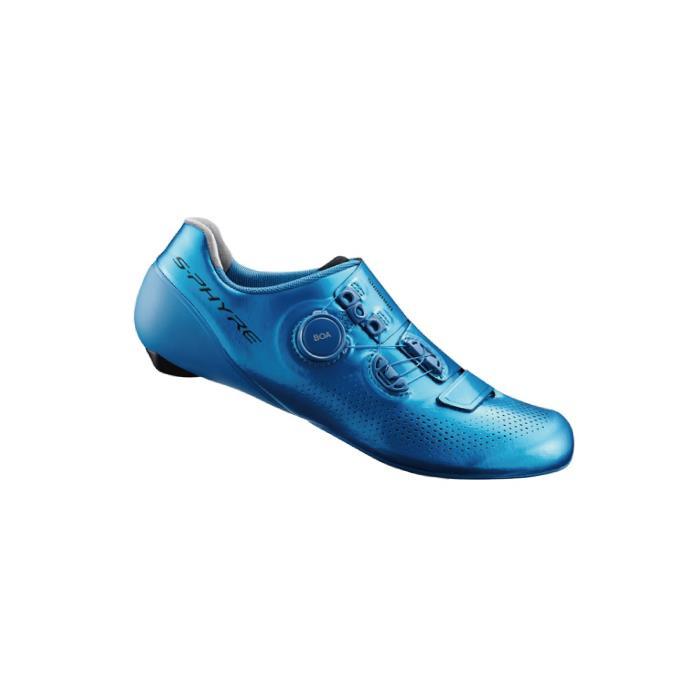 SHIMANO (シマノ) S-PHYRE SH-RC901TE ブルー WIDE 39.5(24.8cm) SPD-SL ビンディングシューズ
