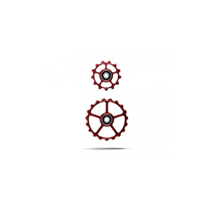 CeramicSpeed (セラミックスピード) プーリーキット COATED 13/19T レッド