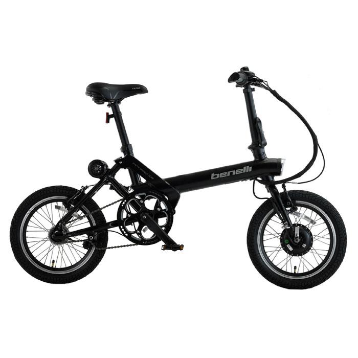 benelli(ベネリ) MINI FOLD 16 ブラック 折りたたみ 電動アシスト自転車
