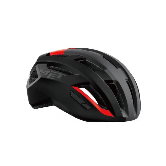 MET(メット) VINCI ヴィンチ Mips ブラック/レッド サイズL(58-61cm) ヘルメット