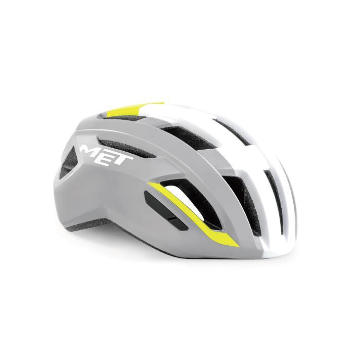 限定特価 MET メット 国内送料無料 VINCI ヴィンチ Mips サイズM グレー 56-58cm イエロー ヘルメット