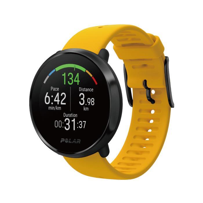 POLAR (ポラール) IGNITE イエロー サイズM/L GPS内蔵 フィットネスウォッチ